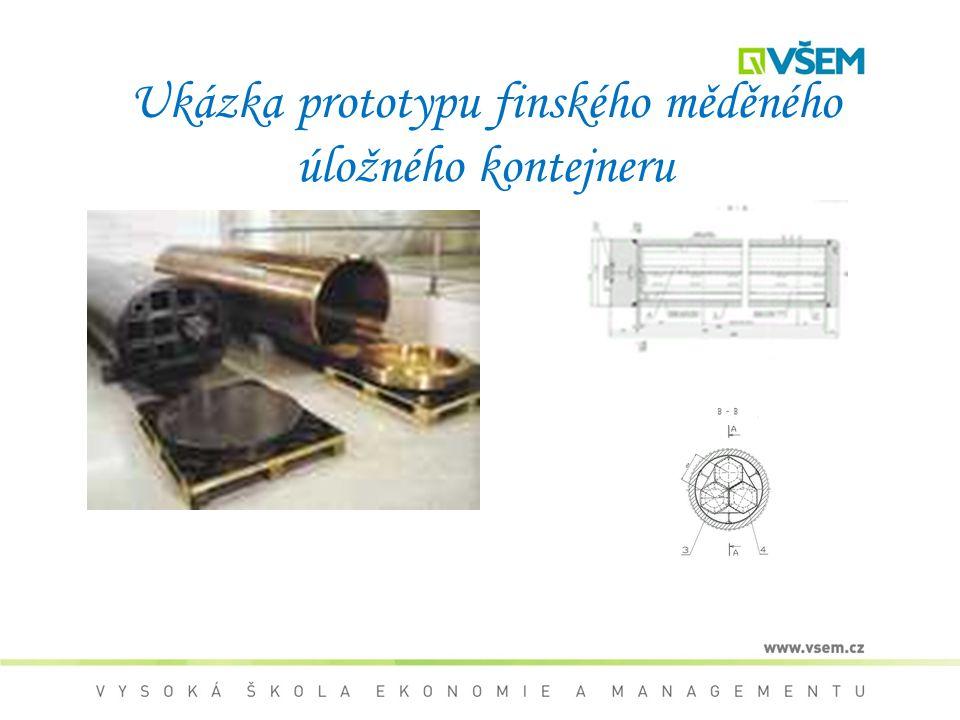 Ukázka prototypu finského měděného úložného kontejneru