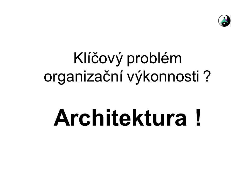 Klíčový problém organizační výkonnosti ? Architektura !