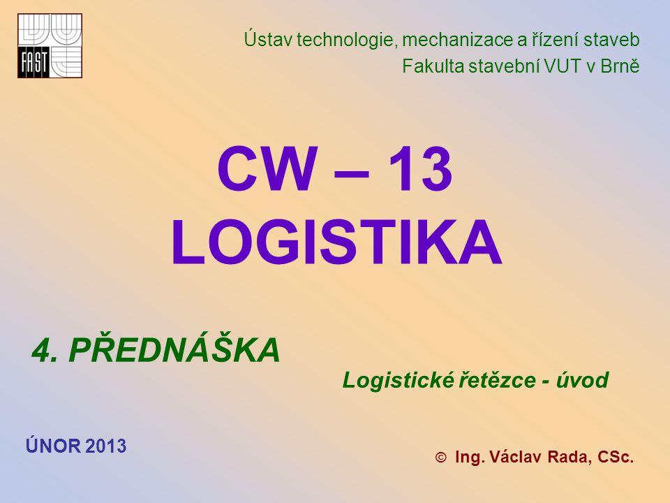 Leden 2010 LOGISTICKÉ ŘETĚZCE - TRANSFOR- MAČNÍ PROCES materiál suroviny pracovní prostředky pracovní síly výrobky služby odpad pracovní prostředky pracovní síly energie finance