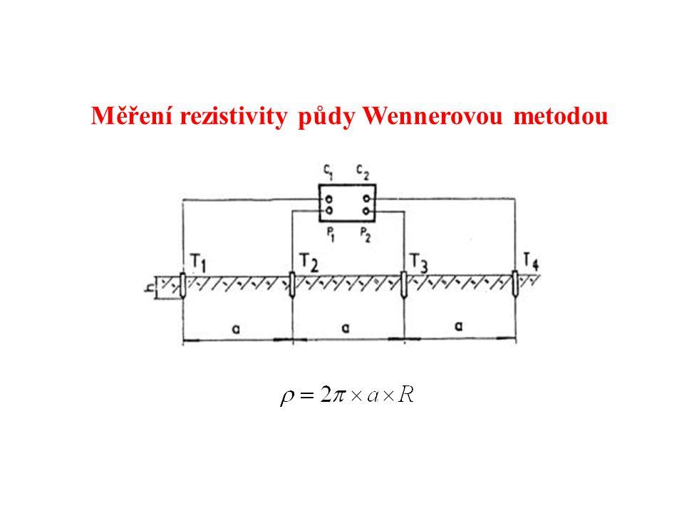 Měření rezistivity půdy Wennerovou metodou