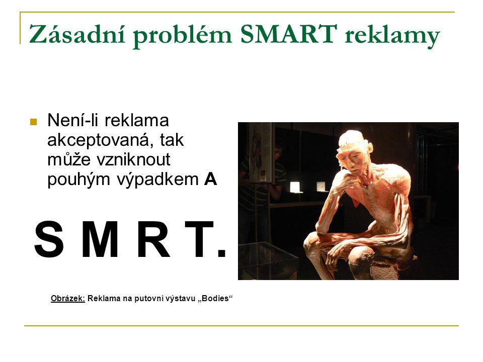 Zásadní problém SMART reklamy Není-li reklama akceptovaná, tak může vzniknout pouhým výpadkem A S M R T.