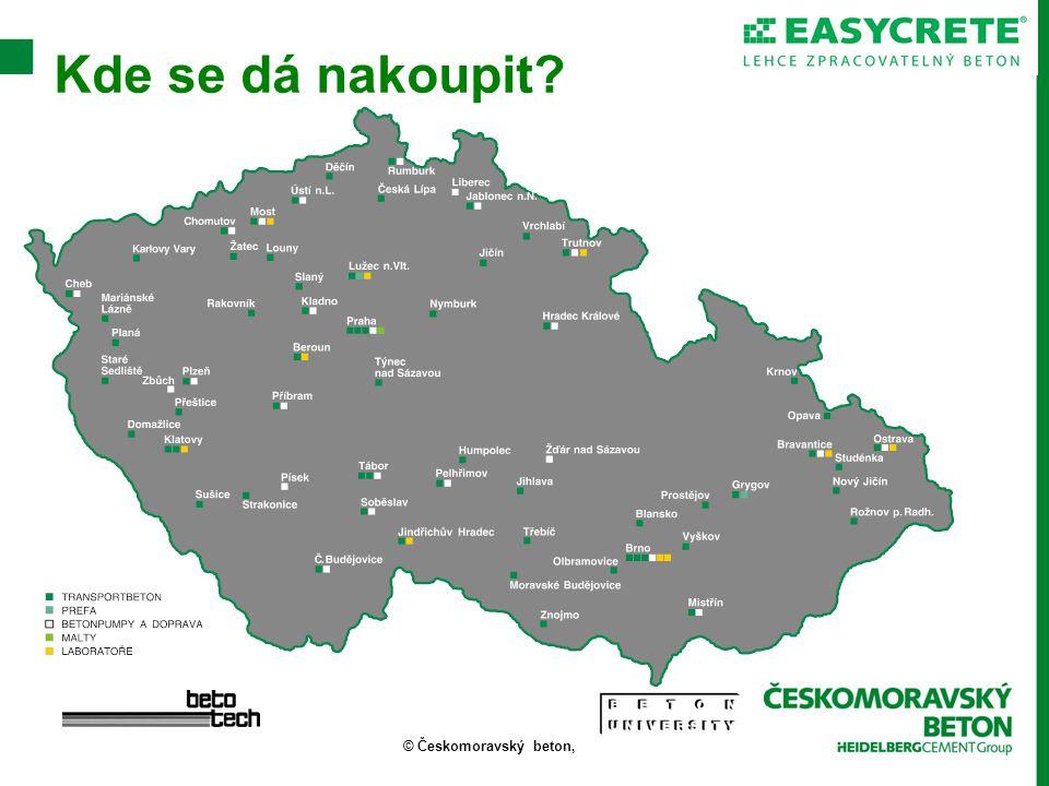 © Českomoravský beton, a.s. Kde se dá nakoupit?