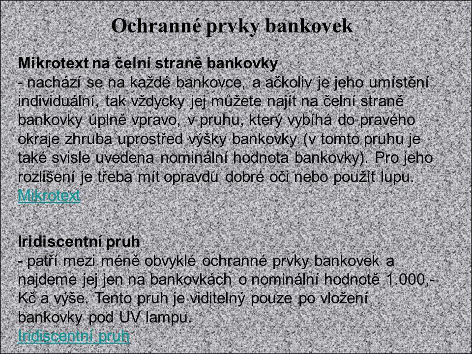 Zdroje informací: www.cnb.cz