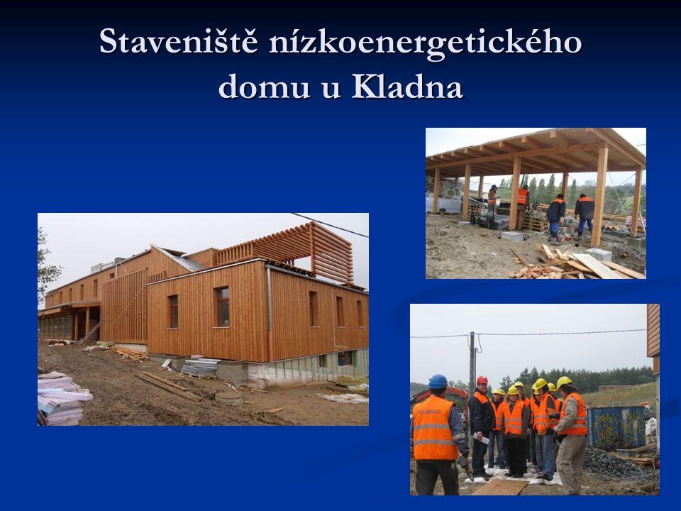 Staveniště nízkoenergetického domu u Kladna