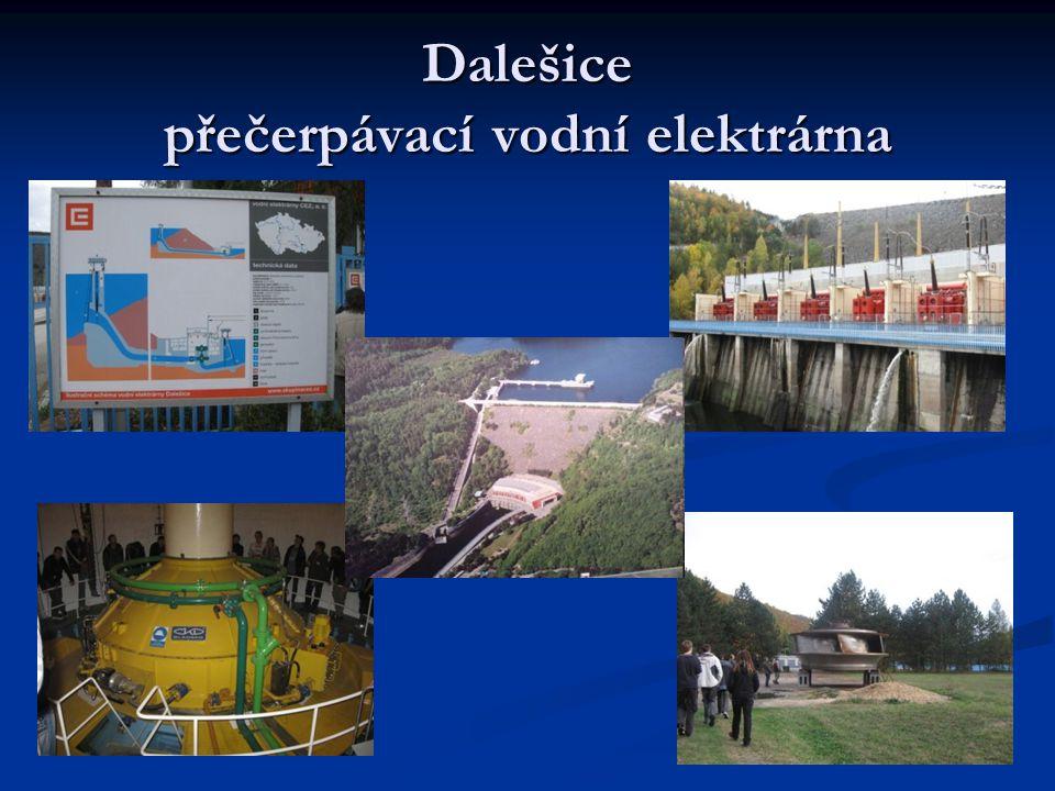 Mapa elektráren ČR