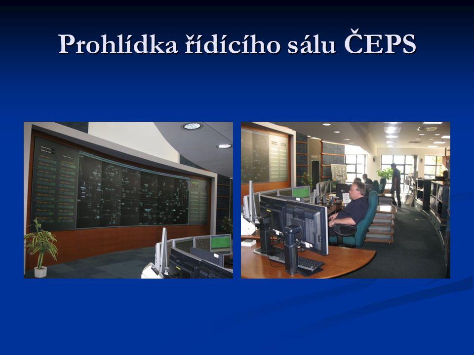 Prohlídka řídícího sálu ČEPS