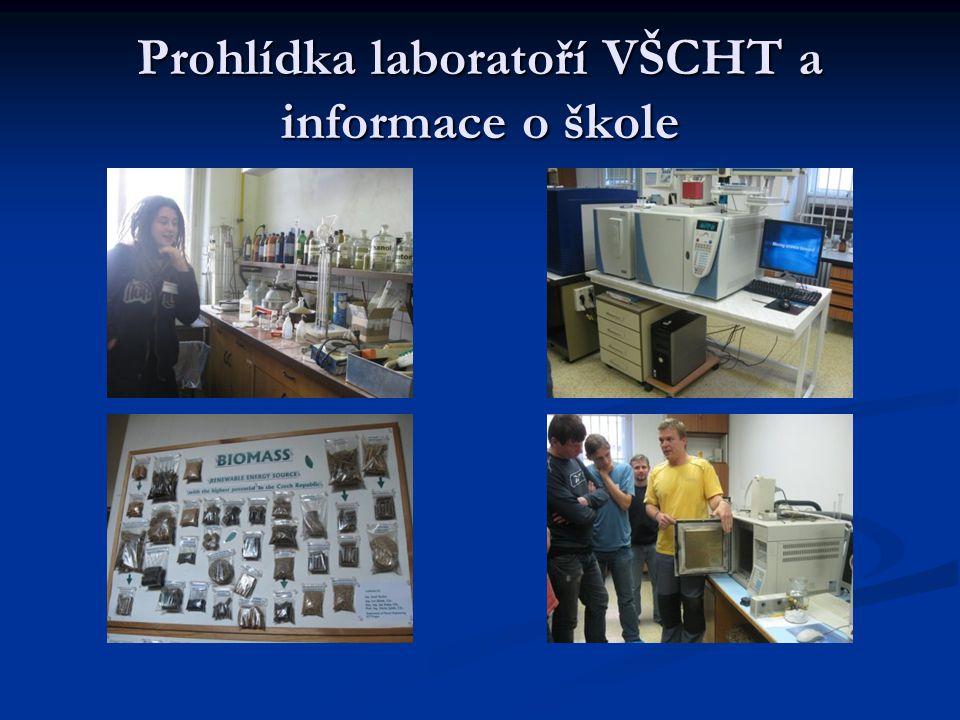 Prohlídka laboratoří VŠCHT a informace o škole