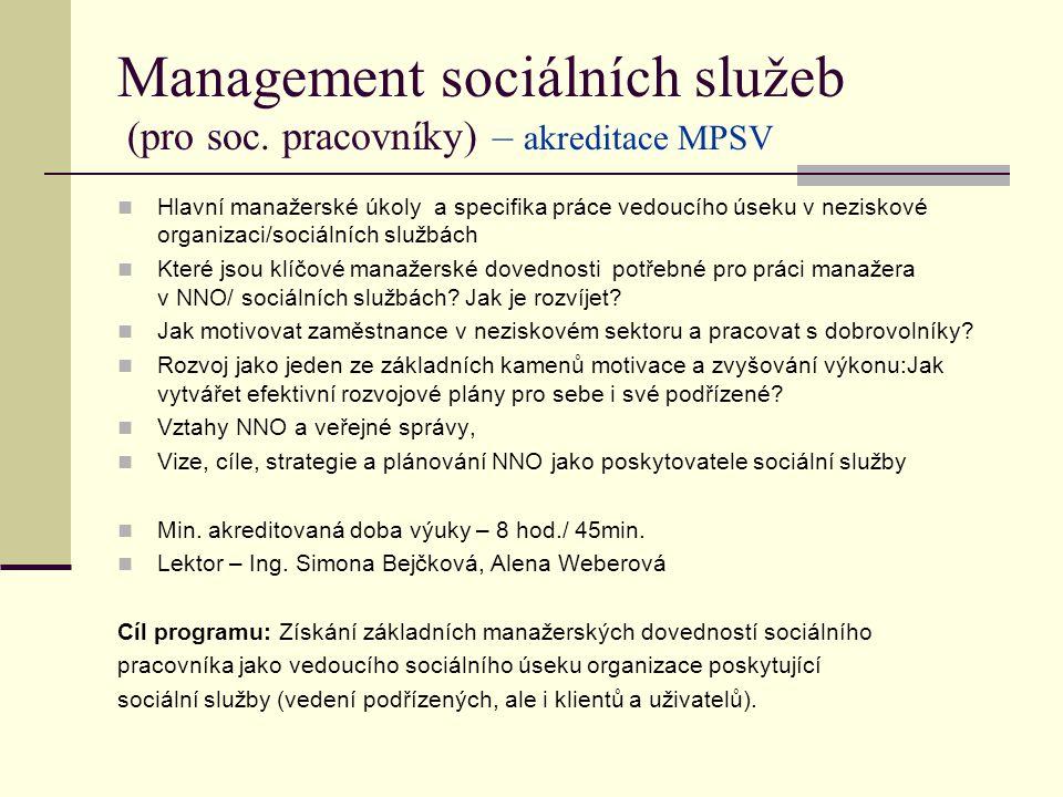Management sociálních služeb (pro soc.