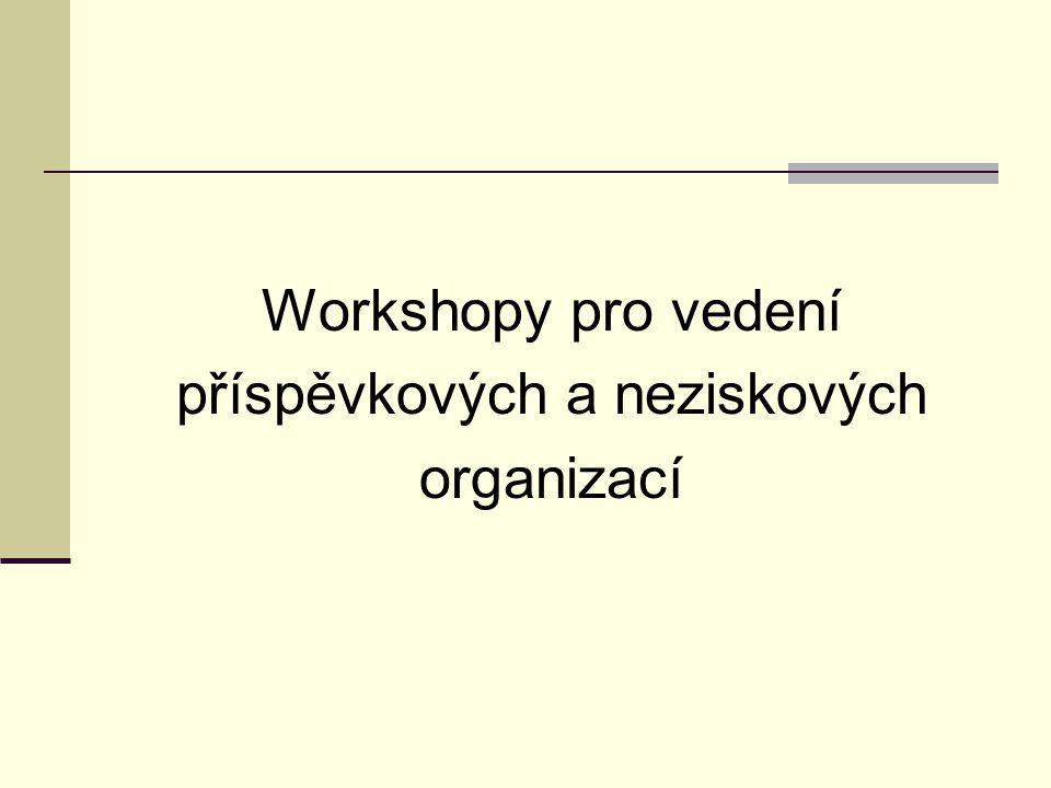 Workshopy pro vedení příspěvkových a neziskových organizací