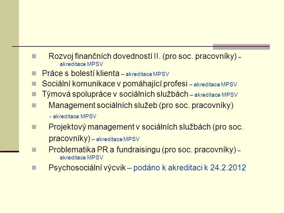 Rozvoj finančních dovedností II.(pro soc.
