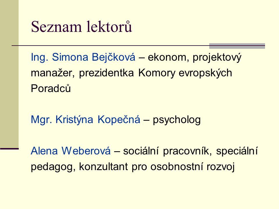 Seznam lektorů Ing.