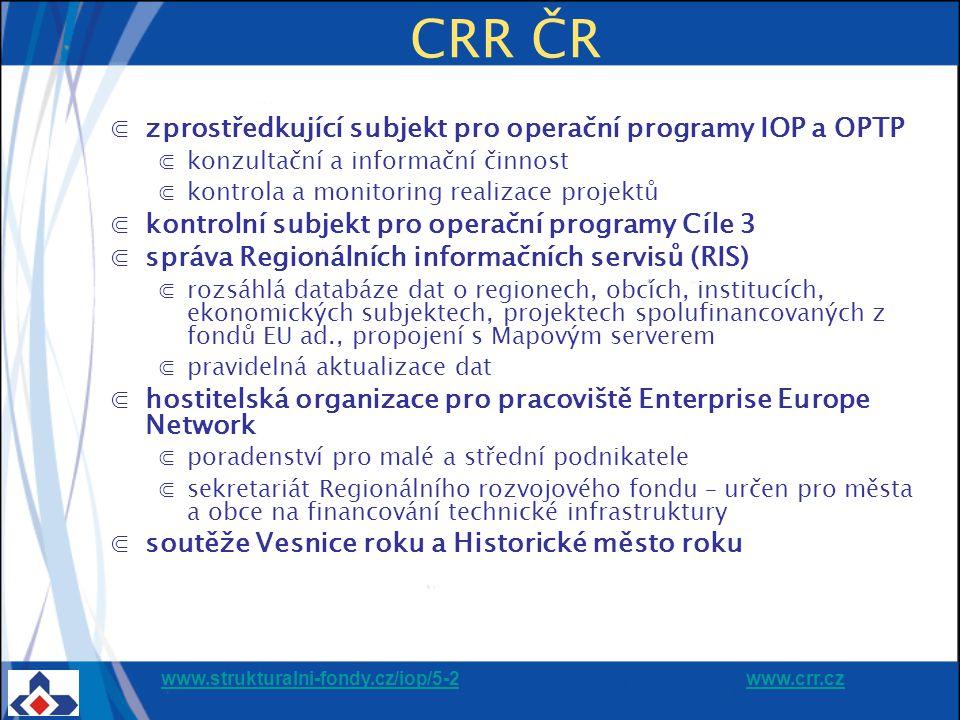 www.strukturalni-fondy.cz/iop/5-2www.strukturalni-fondy.cz/iop/5-2 www.crr.czwww.crr.cz 13 Proces předložení a schválení projektů Město vybere a schválí projekty (v souladu s IPRM ) CRR provede kontrolu přijatelnosti, formálních náležitostí, ex – ante AR a kontrolu ŘO vydá rozhodnutí o poskytnutí dotace Žadatelé předloží projekty na město Město vyhlásí výzvu na předkládání projektů Žadatel předloží projekt na CRR