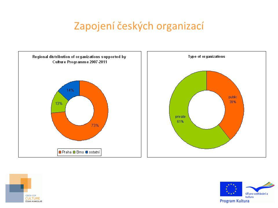 Zapojení českých organizací
