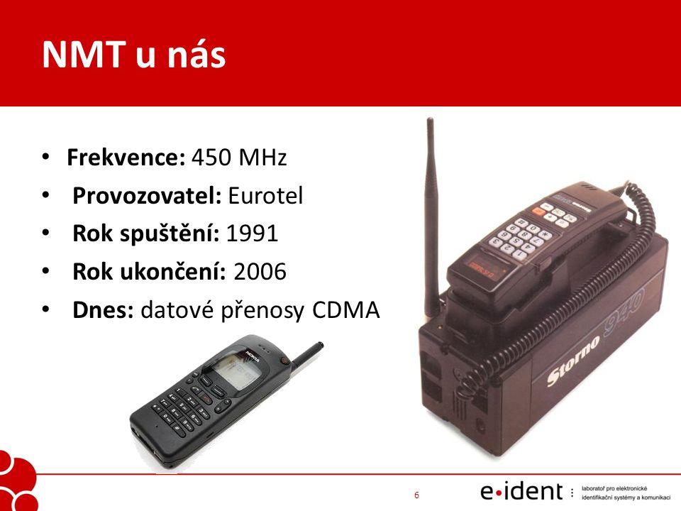 Co je to GSM GSM - Global System for Mobile communications (2 G) digitální buňková radiotelefonní síť umí přenášet nejen hlas ale i textové zprávy SMS a data (fax, obrázky, internet, …) klasická telefonie s přepojováním okruhů 7