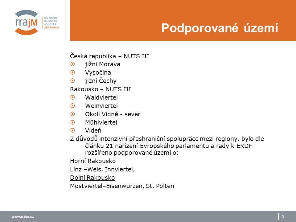 www.rrajm.cz 4 Podporované území Podporované regiony na česko- rakouské hranici