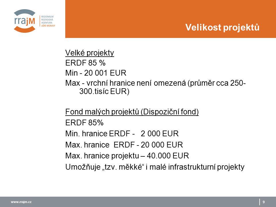 www.rrajm.cz 10 Výběr projektů  Bude uplatňován tzv. Lead partner princip , obdobně jako nyní u projektů INTERREG IIIB a IIIC.
