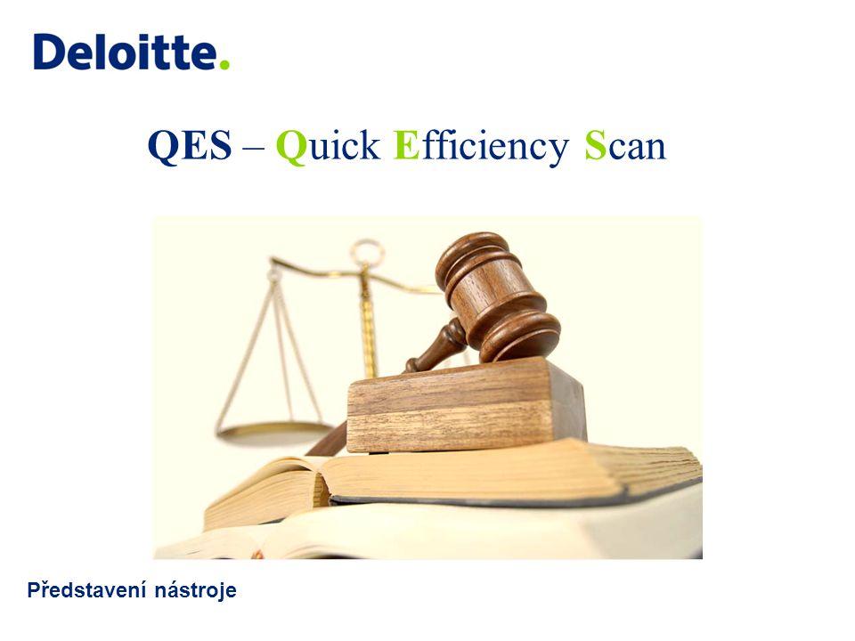 QES – Quick Efficiency Scan Představení nástroje