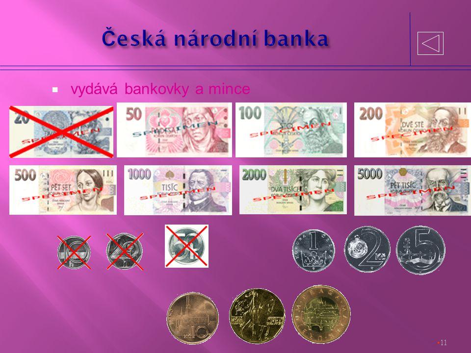  vydává bankovky a mince 11