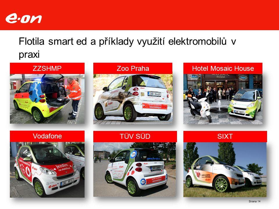 Flotila smart ed a příklady využití elektromobilů v praxi Vodafone TÜV SÜD Hotel Mosaic HouseZZSHMPZoo Praha SIXT Strana 14