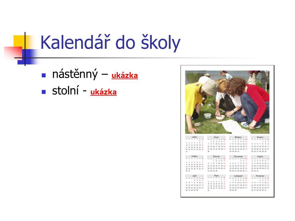 Kalendář do školy nástěnný – ukázka ukázka stolní - ukázka ukázka