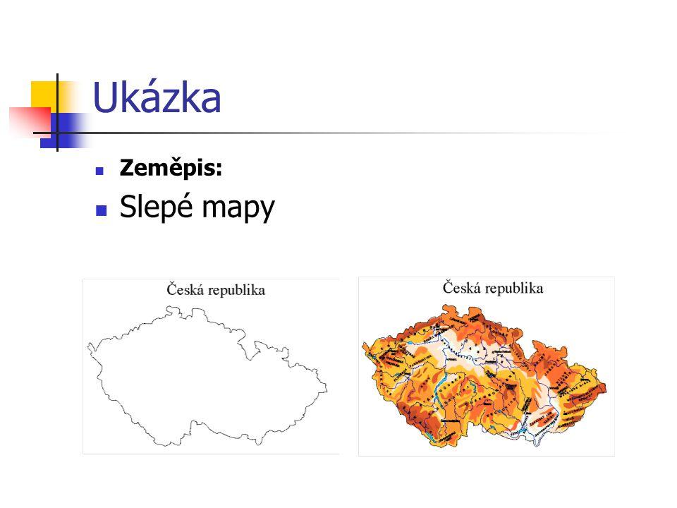 Ukázka Zeměpis: Slepé mapy