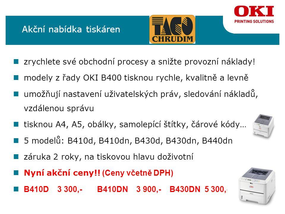 čb A4 tiskárny OKI B410, B430, B440 volitelně druhý zásobník  Hlavní výhody: nduplex vždy v ceně.