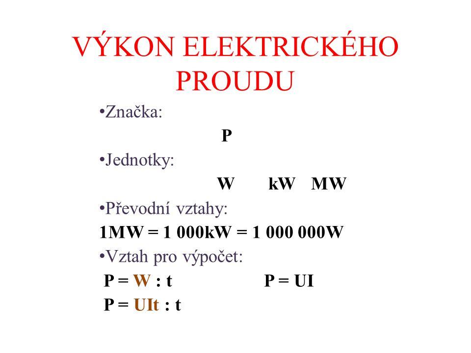 Výpočet elektrického proudu