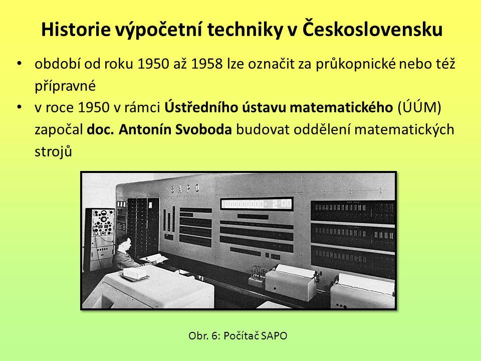 období od roku 1950 až 1958 lze označit za průkopnické nebo též přípravné v roce 1950 v rámci Ústředního ústavu matematického (ÚÚM) započal doc. Anton