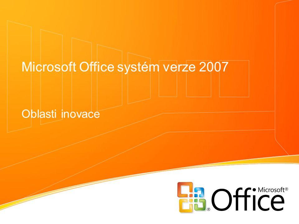 Microsoft Office systém verze 2007 Oblasti inovace