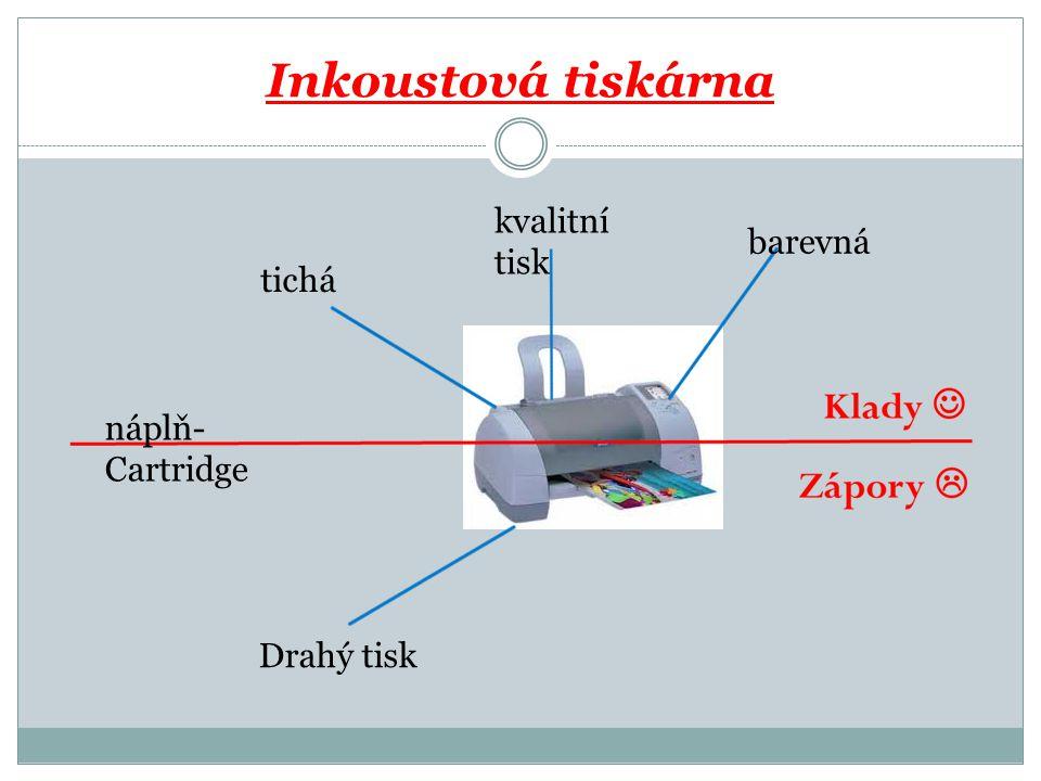 Inkoustová tiskárna tichá kvalitní tisk barevná náplň- Cartridge Drahý tisk