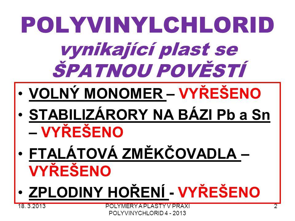 Historie PVC v České a Slovenské republice 18.