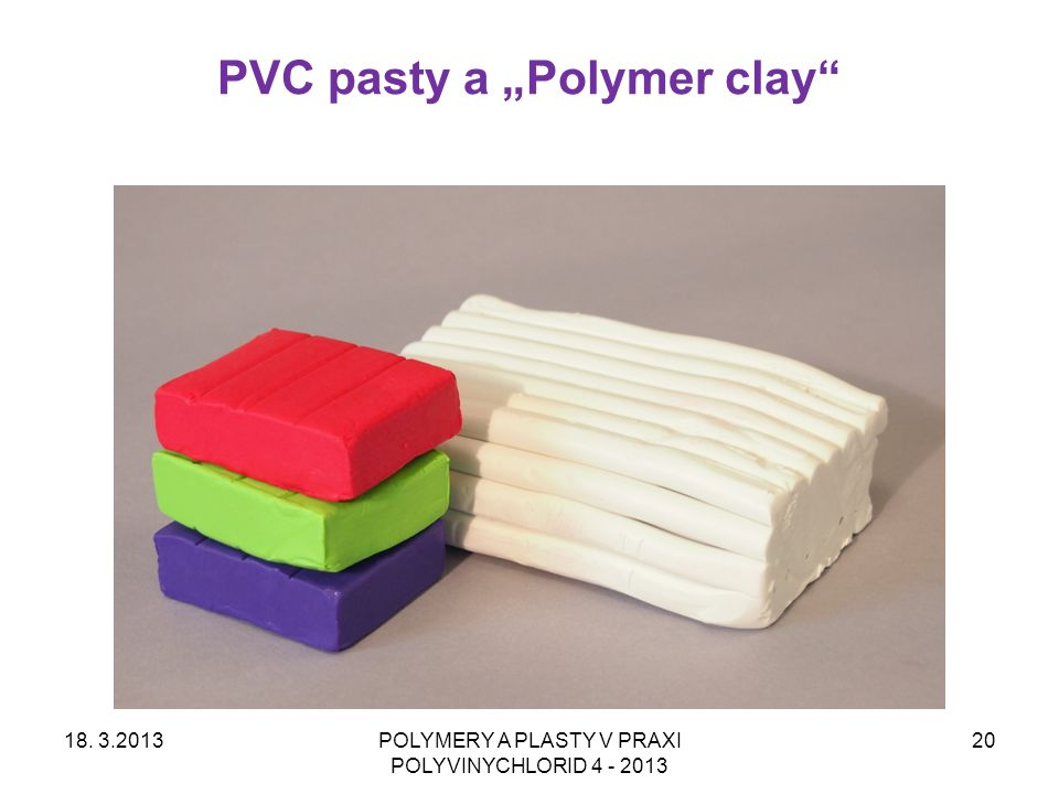 """PVC pasty a """"Polymer clay 18."""