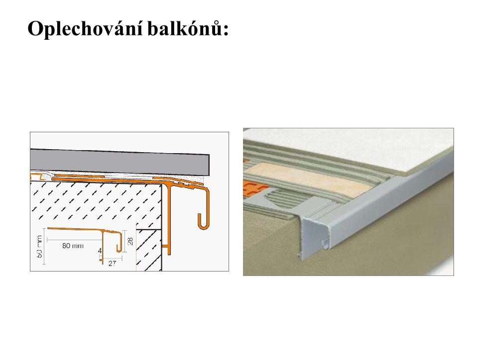SEZNAM PŘÍLOH Oplechování balkónů: