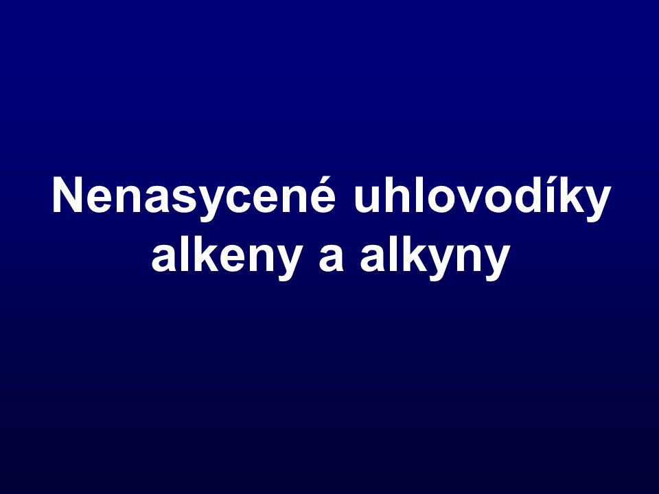 Alkeny Alkeny jsou uhlovodíky s jednou dvojnou vazbou v uhlíkovém řetězci.