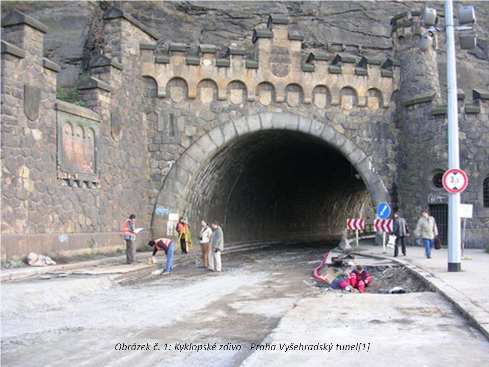 Obrázek č. 1: Kyklopské zdivo - Praha Vyšehradský tunel[1]