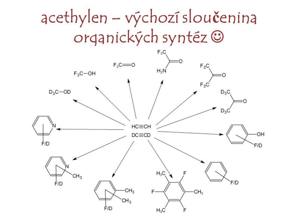 acethylen – výchozí slou č enina organických syntéz