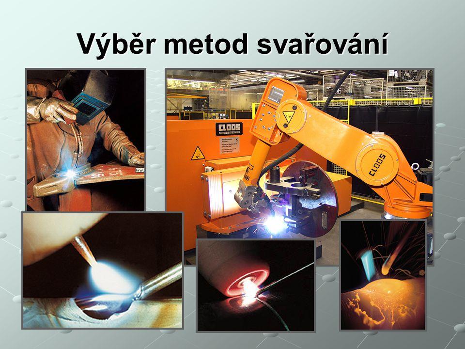 Vybrané technologie svařování v ochranných atmosférách 131 - MIG - (Metal Inert Gas) – obloukové svařování tavící se elektrodou v inertním plynu 135 – MAG – (Metal Activ Gas) – obloukové svařování tavící se elektrodou v aktivním plynu 136 – FCAW – (Flux - Cored Arc Welding) - obloukové svařování plněnou elektrodou v aktivním plynu 141 – WIG – (Wolfram Inert Gas) – obloukové svařování netavící se elektrodou v inertním plynu