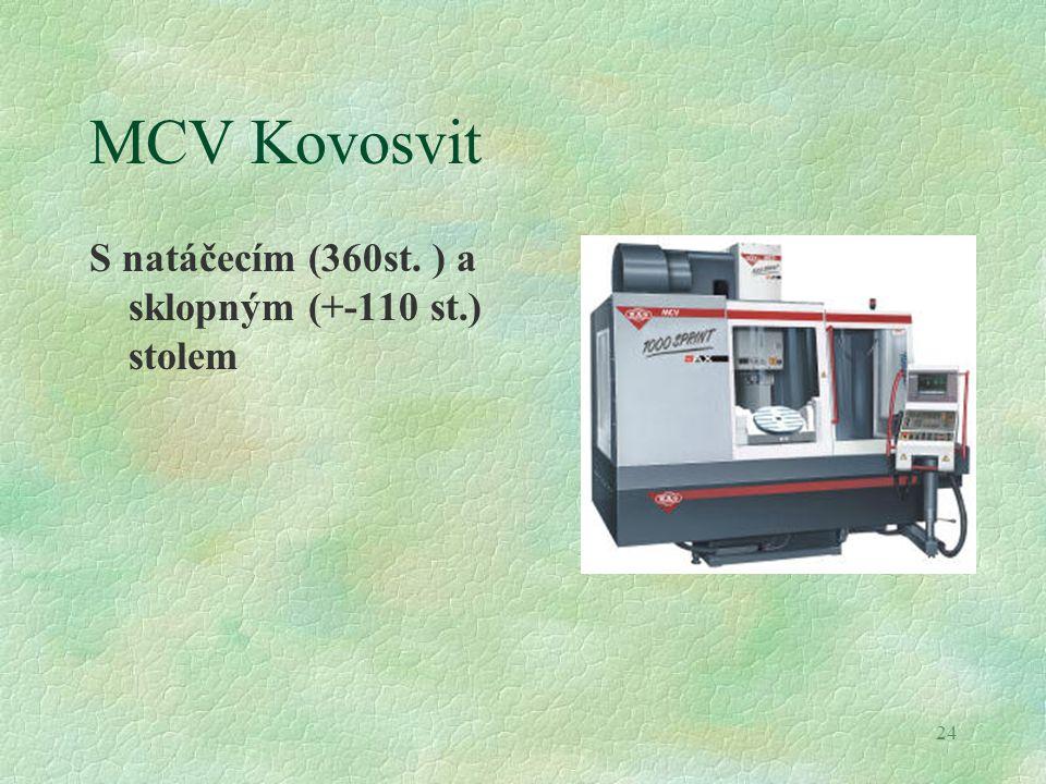 24 MCV Kovosvit S natáčecím (360st. ) a sklopným (+-110 st.) stolem