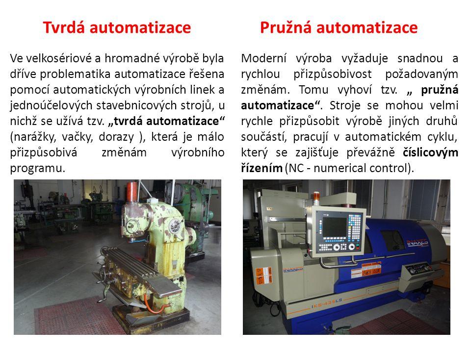 Ve velkosériové a hromadné výrobě byla dříve problematika automatizace řešena pomocí automatických výrobních linek a jednoúčelových stavebnicových str