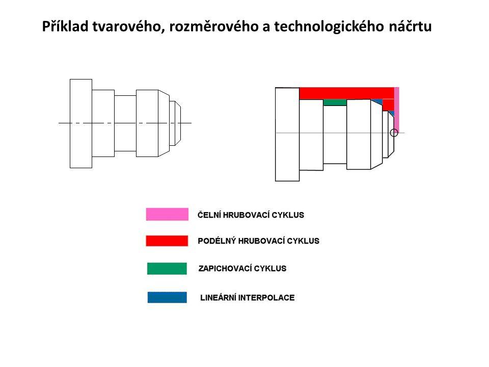 Příklad tvarového, rozměrového a technologického náčrtu