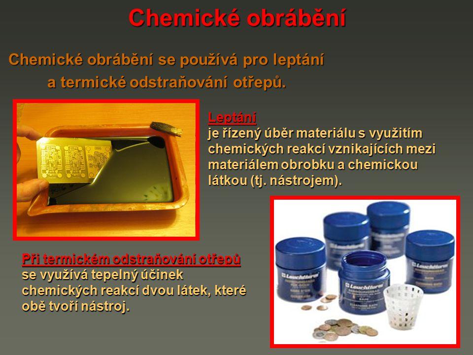 Leptání je řízený úběr vrstvy materiálu z povrchu obrobku chemickou reakcí vznikající mezi materiálem obrobku a nástrojem, který tvoří chemická látka, nejčastěji kyselina nebo hydroxid.