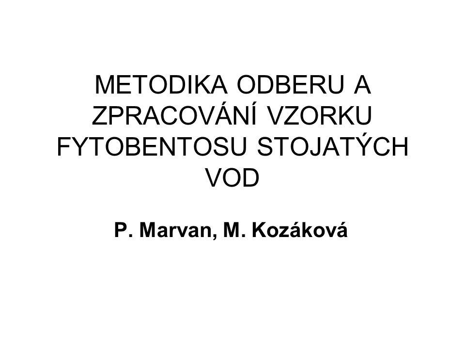 METODIKA ODBERU A ZPRACOVÁNÍ VZORKU FYTOBENTOSU STOJATÝCH VOD P. Marvan, M. Kozáková