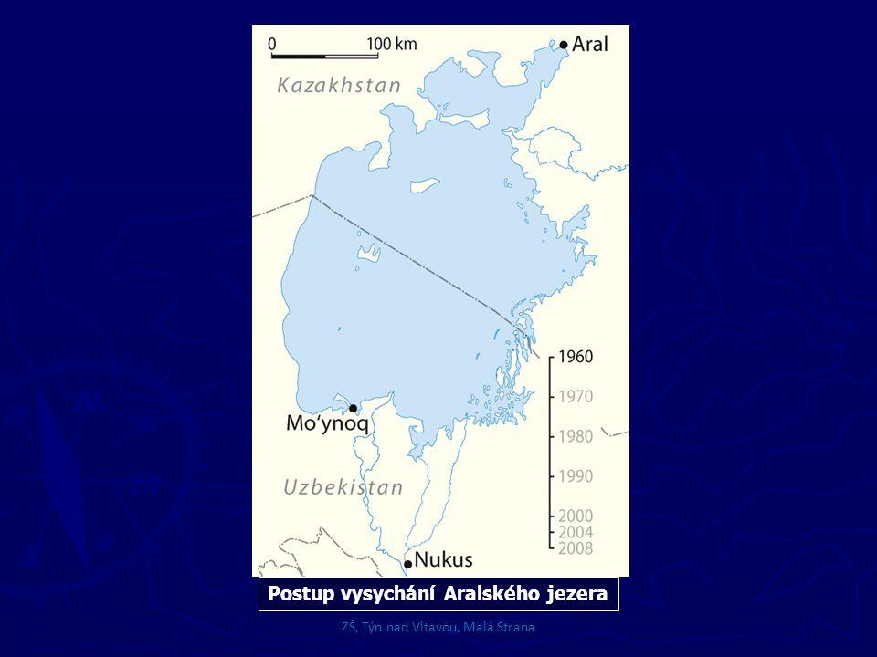 Postup vysychání Aralského jezera ZŠ, Týn nad Vltavou, Malá Strana
