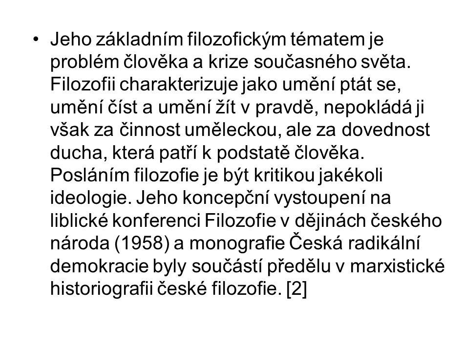 Dílo Česká radikální demokracie čes.fil.myšlení 19.st.