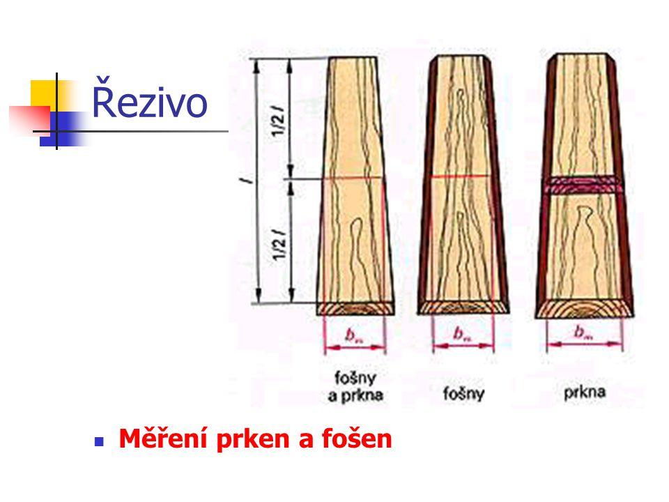 Řezivo Měření a výpočty řeziva ČSN pevně určují, jak a na jakých místech se měří délka, šířka a tloušťka omítaného a neomítaného neohoblovaného jehličnatého a listnatého dřeva a jak se počítá plošný obsah a objem.