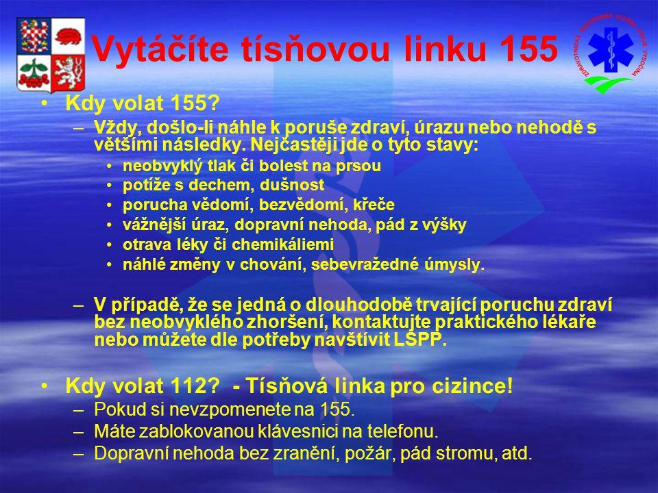 Vytáčíte tísňovou linku 155 Kdy volat 155.