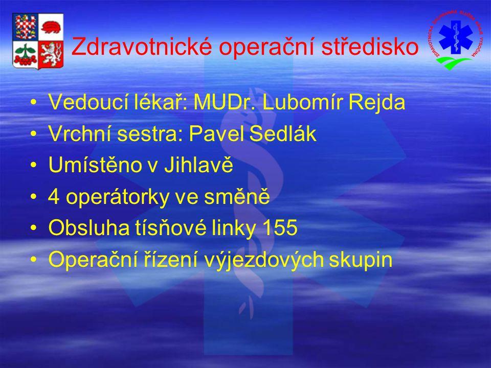 Zdravotnické operační středisko Vedoucí lékař: MUDr.