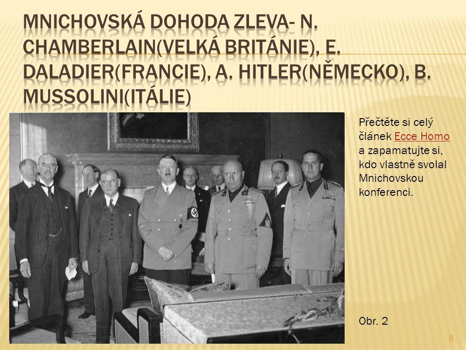 6 Přečtěte si celý článek Ecce Homo a zapamatujte si, kdo vlastně svolal Mnichovskou konferenci.Ecce Homo Obr.