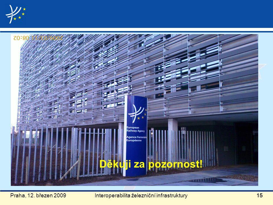 Praha, 12. březen 200915 Děkuji za pozornost! Interoperabilita železniční infrastruktury