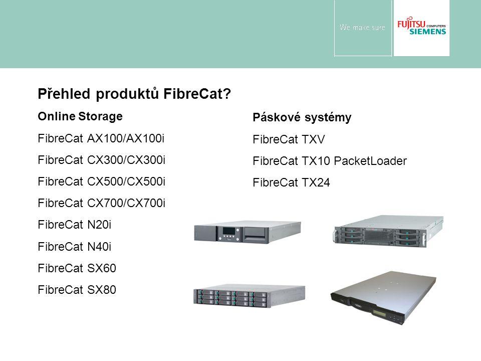 Přehled produktů FibreCat? Online Storage FibreCat AX100/AX100i FibreCat CX300/CX300i FibreCat CX500/CX500i FibreCat CX700/CX700i FibreCat N20i FibreC